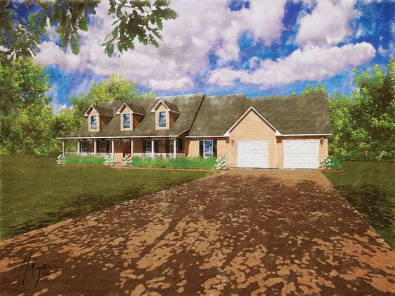 Modular home the carolina 4 bedroom 2 5 bath 2508 sq ft for Two story cape cod