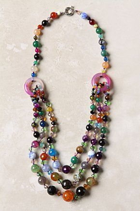 I love all the different colours in this Czech glass necklace from Anthropologie.