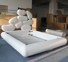 Cuero Material de la tela muebles cama diseño creativo(China (Mainland))