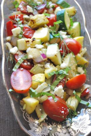 Grilled Vegetable Salad with Feta | BetsyLife