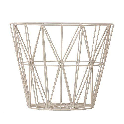 Ferm Living Korb Aufbewahrungskorb Wire Basket - Rose - Small Rose aus dem Korb kann mit einer Tischplatte ein Beistelltisch werden