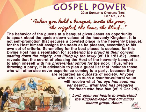 Lord, open our hearts to understand the Kingdom-logic...