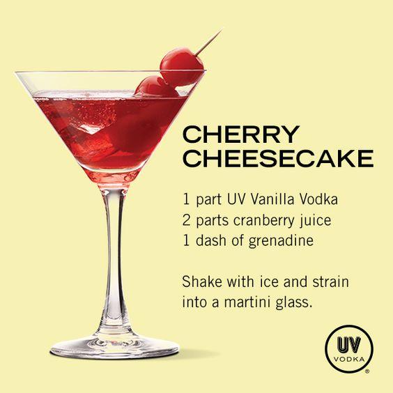 UV Vodka Recipe: Cherry Cheesecake