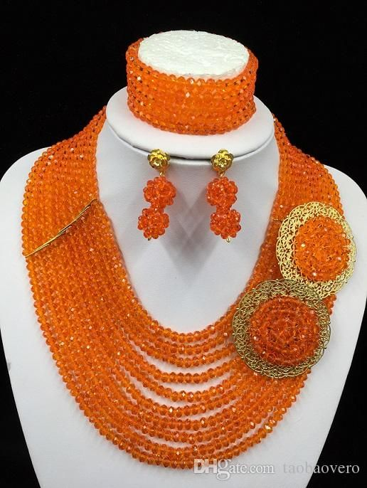 Exclusive African Wedding Jewelry Sets Dubai Gold Jewelry Set 2015 New Design LF1035