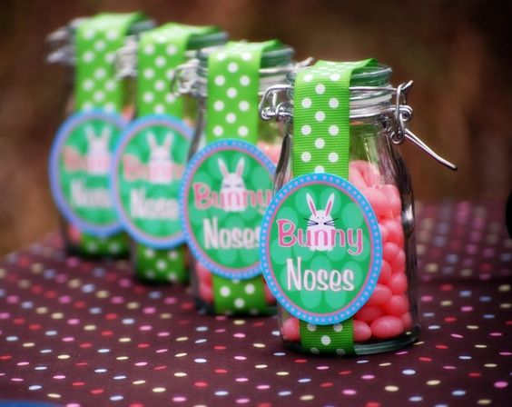 Pinke Zuckereili als Osterhasennäschen, süss!