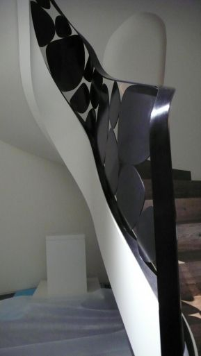 Sculptural patinated bronze staircase by Eric Schmitt