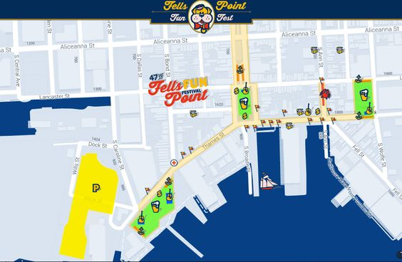 Interactive Map Baltimore And Festivals On Pinterest