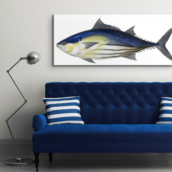 """Skipjack Tuna"" wall art from the The Encyclopaedia Britannica Collection via @greatbigcanvas at GreatBIGCanvas.com."