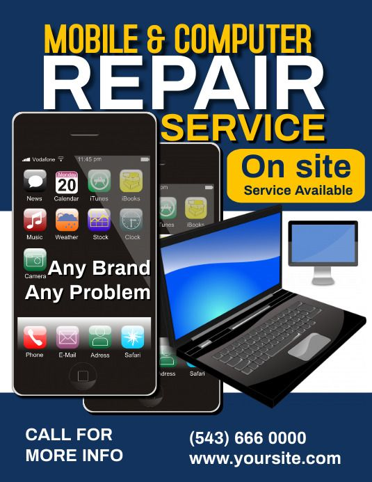 Poster Mobile Computer Repair Computer Repair Computer Repair Services