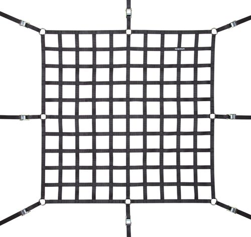 Truck Bed Cargo Net 5.5x4.2ft Zinc Plate Cross Strap 4 S Hook straps PRO