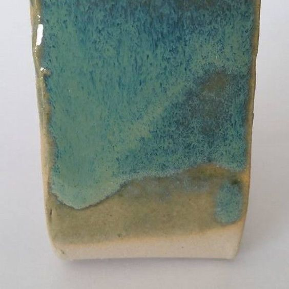 Category: Glaze, Blue, Author: Triin Lehismets, Notes: Used gillespie borate instead of gerstley borate and zettlitzer kaolin instead of epk. Fired to 1246 celsius oxidation.