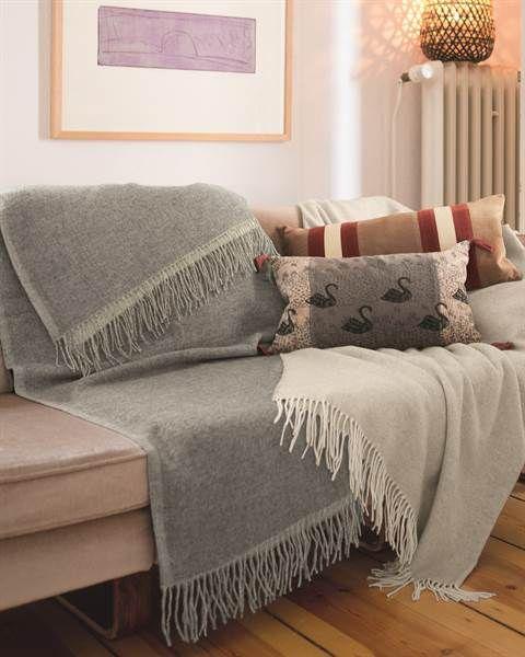 Wolldecke Doubleface Grau Wolldecke Wohnen Und Wohnzimmer Inspiration