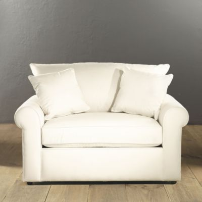 oversized chair that has a fold out bed what a great idea add a matching ottoman with