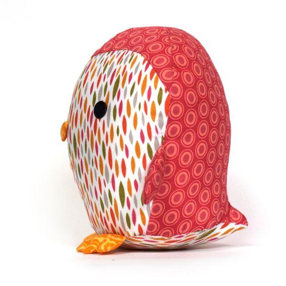 Penguin Plush sewing pattern - Allsewingpatterns.net: