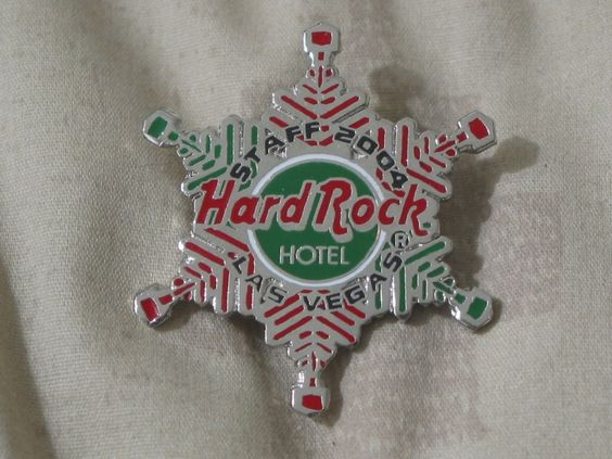 A Junkee Shoppe Junk Market Stop: HARD ROCK Hotel Las Vegas 2004 Staff Christmas Pinback ... For Sale Click Link Here To View >>>> http://ajunkeeshoppe.blogspot.com/2015/12/hard-rock-hotel-las-vegas-2004-staff.html