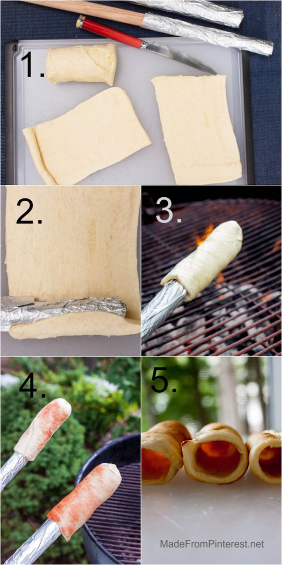 Campfire Eclair - 5 Steps for the shell.