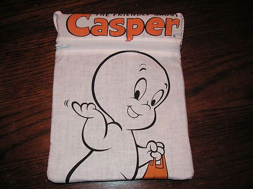 Casper ghost handmade zipper fabric purse by alwaysamazingdesigns, $9.99