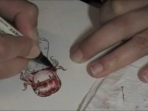 Mi primer video de como pueden pintar con los Distress Markers