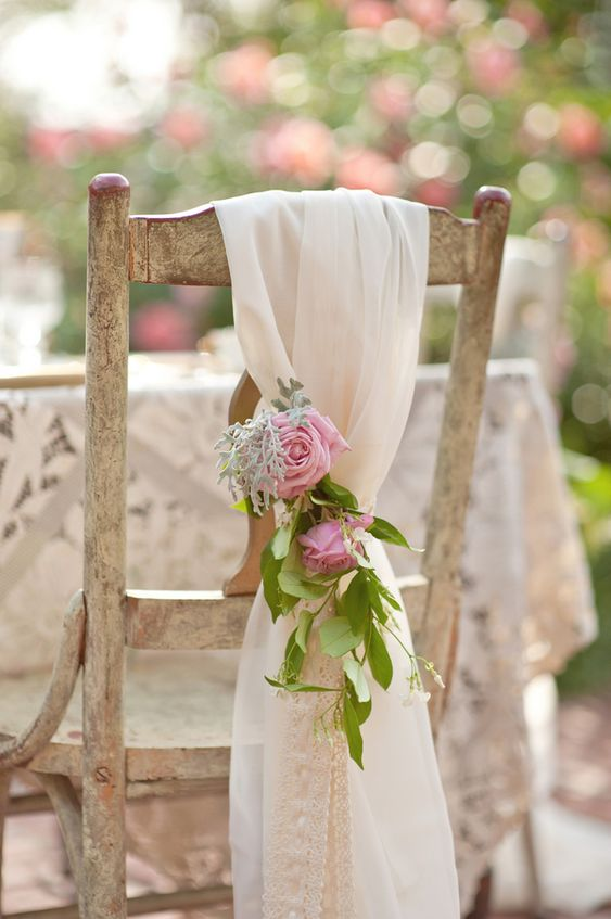 Outdoor Spring shabby chic wedding: