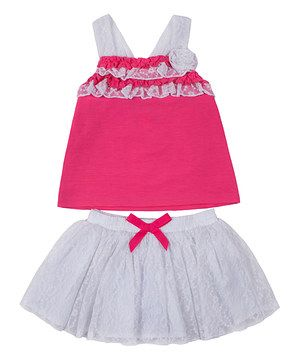 Fuchsia Ruffle Tank & Skirt - Infant, Toddler & Girls by Little Lass #zulily #zulilyfinds