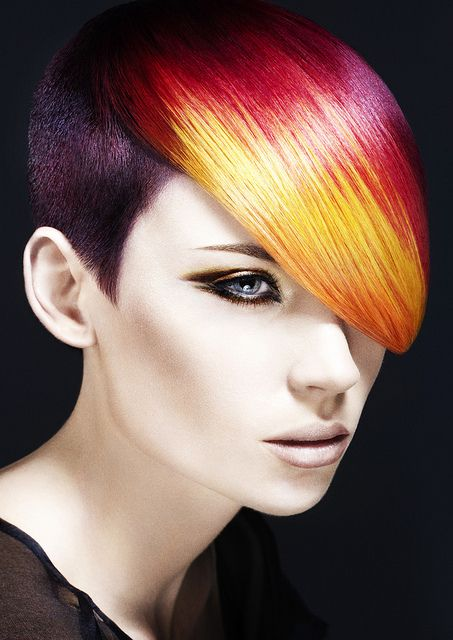 amazing hair styles multi tonalvioletsredsgoldsandcoppers rainbow of hair 3386