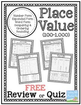 free place value quiz or review 100 1 000 free place value quiz or review 1 000 1 000 000 use. Black Bedroom Furniture Sets. Home Design Ideas