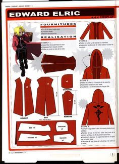 edward elric jacket pattern - Google Search