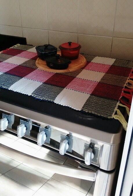 Cobre fogão de tear manual