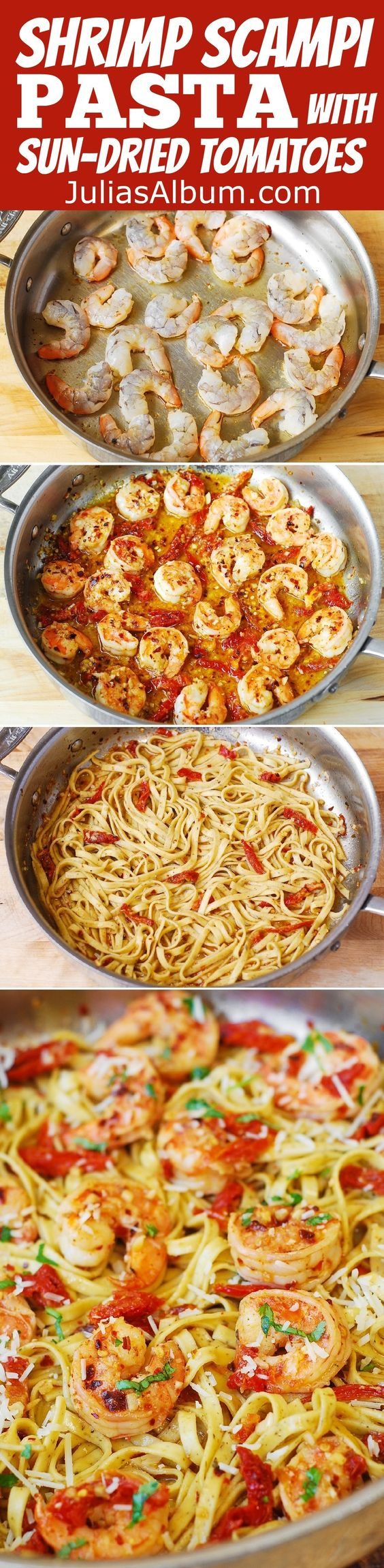 Shrimp Scampi Pasta with Sun-Dried Tomatoes | Recipe | Summer ...