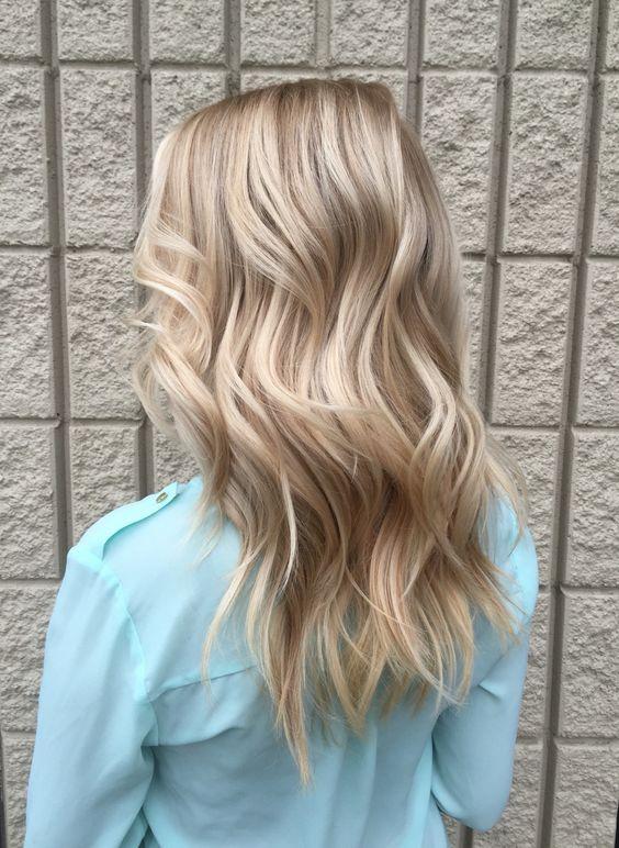 Dimensional platinum blonde for fall.