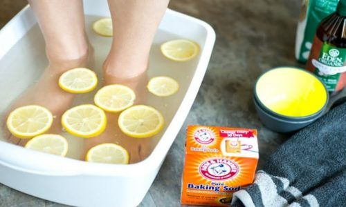 bain de pied citron