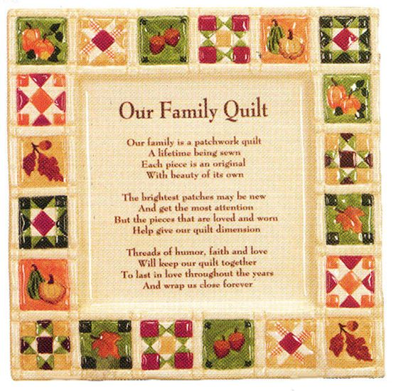 Image Detail For -... Quilt Poem To Give With Goodies At