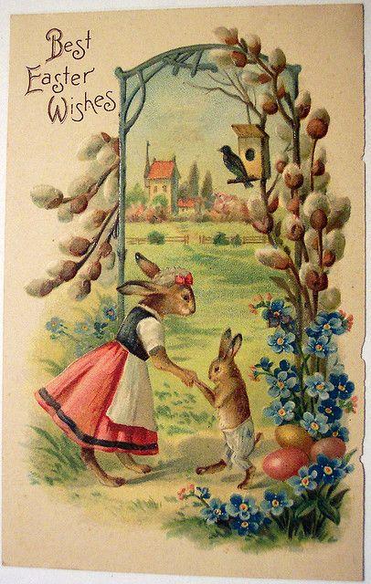 Vintage Easter Postcard: