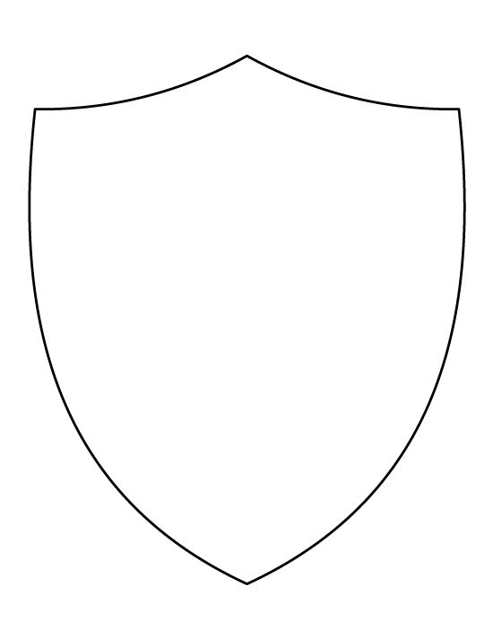 blank shield template printable - knight shield template the image kid