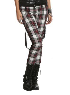 Royal Bones Red Plaid Skinny Pants | Fashion | Pinterest | Skinny ...