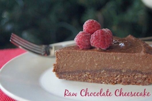 Raw chocolate cheesecake - dairy and gluten free