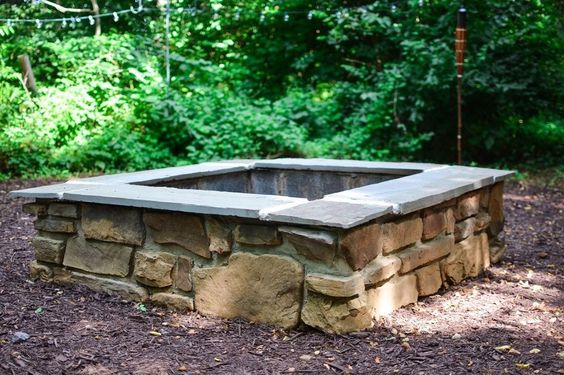 to build a gorgeous backyard fire pit from cement blocks fire pits