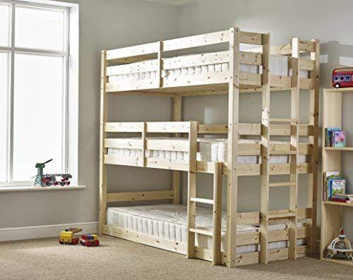 Three Sleeper Bunkbed 3ft Single Triple Sleeper Bunk Bed Very