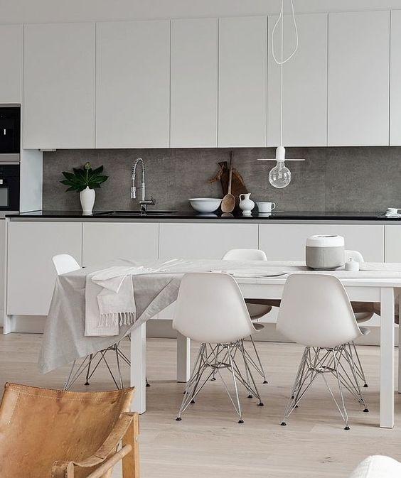 White Kitchen Interior Designs with Modern Style