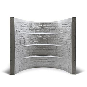 Fiberglass egress window well with ledges (for plants and as steps).