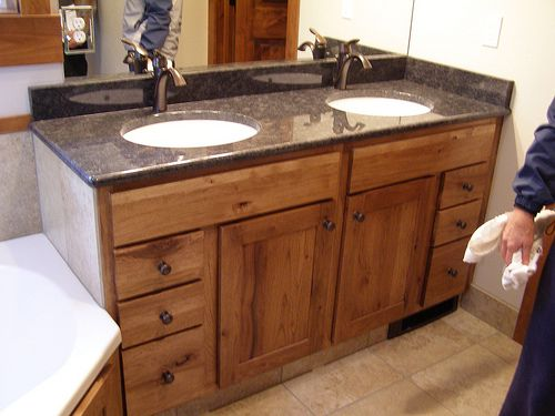 Luxury Ideas Hickory Bathroom Vanity Cabinet Amish Wood Log Denver Natural  60 Cabinets Menards 48 Tower