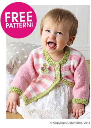 Cardigan in Deramores Baby DK Deramores Knitting...Sweaters for little gi...