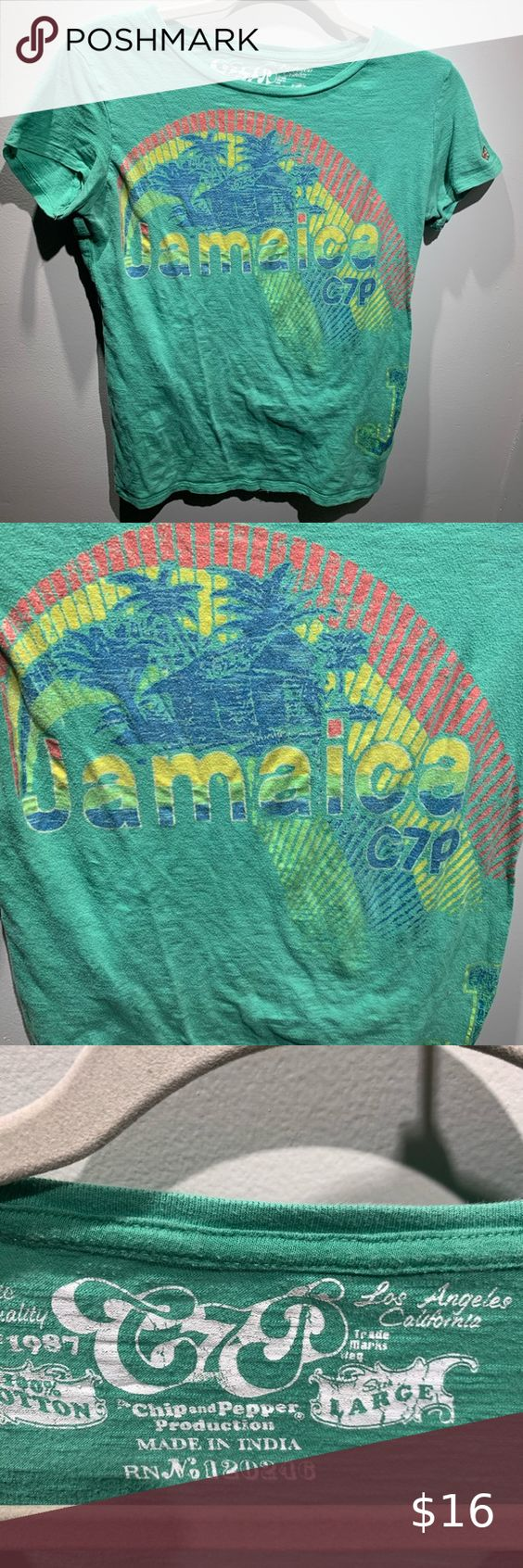 Jamaica C7p Vintage Style Shirt Large Shirt Style Vintage Fashion Tea Shirt