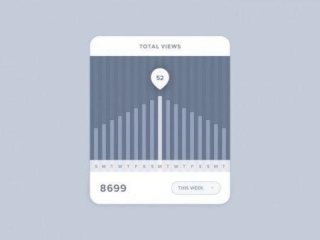 Stats Widget PSD
