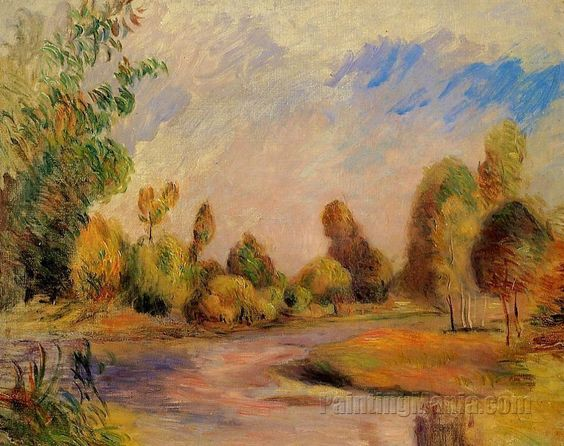 The Banks of the River 1896 by Pierre-Auguste Renoir 1896