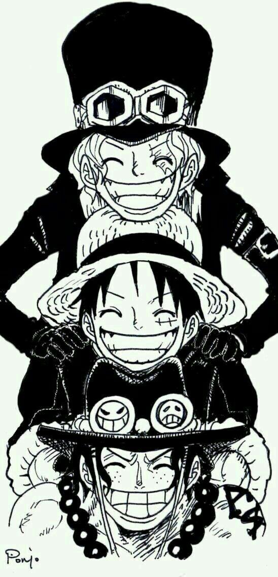 Three Brothers One Piece Ace One Piece Manga One Piece Tattoos