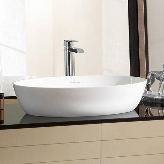 Villeroy Boch Artis Aufsatzwaschtisch Weiss Mit Ceramicplus 419861r1 Aufsatzwaschtisch Aufsatzwaschbecken Waschbecken Rund