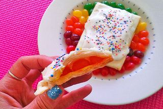 Homemade leftover jelly bean pop-tarts, if you can believe it.