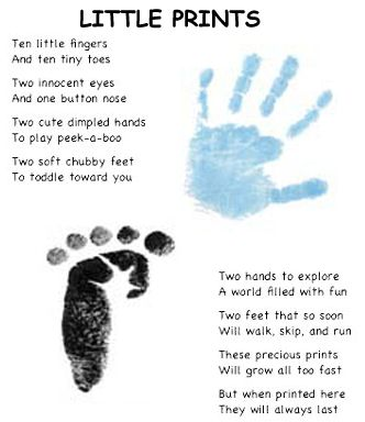 Hand And Feet Print Page Craft Ideas Pinterest