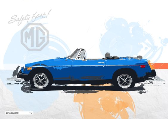 MGB Roadster limited edition print - available on www.fuelledgraphics.com